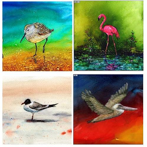 Shore Birds coaster set
