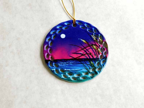 Moonlight Sea Oats Ornament