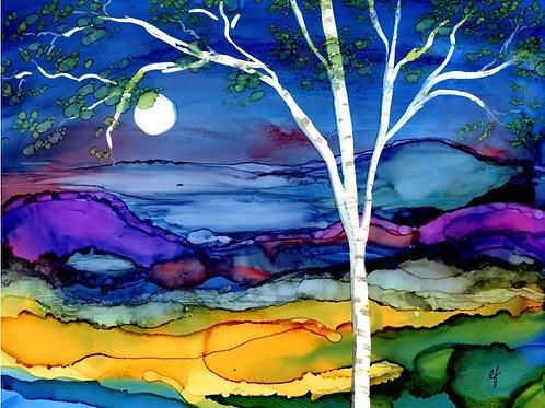 Blue Birch Print