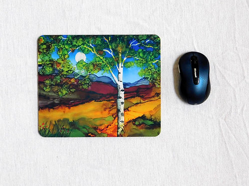Brown Birch Mouse Pad