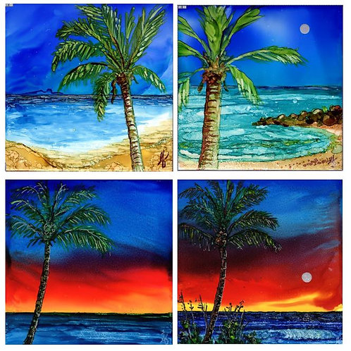 Palm Tree Coaster Set