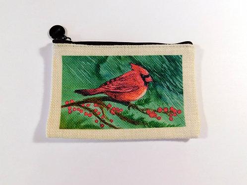 Cardinal Coin Bag