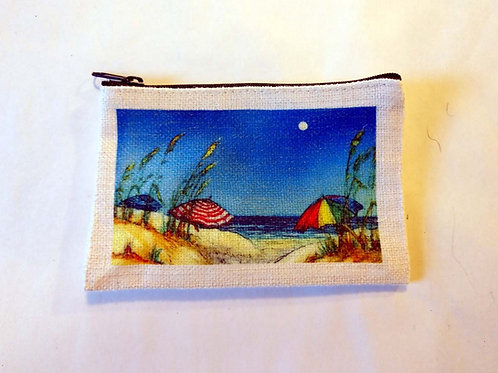 Beach Umbrellas Coin Bag