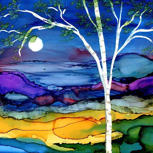 Blue Birch Trivet
