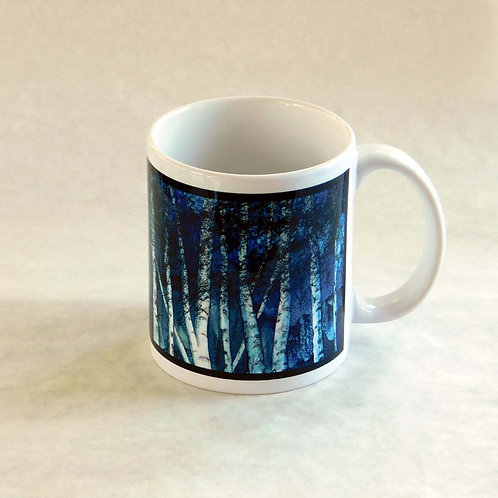 Winter Birch Forest Mug