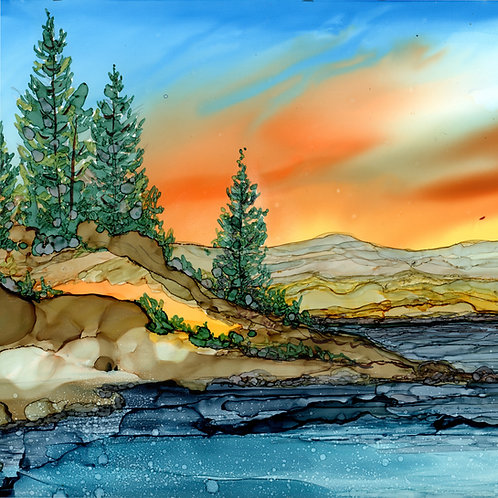 Mountain Lake Trivet