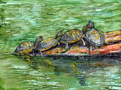 """Turtles""- Original Painting"