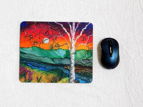 Rainbow Birch Mouse Pad