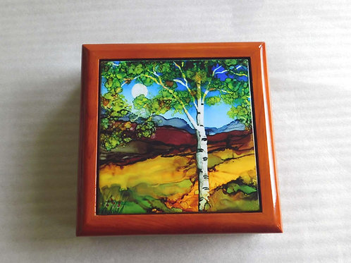 Brown Birch Keepsake Box