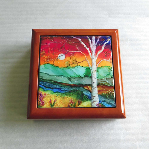 Rainbow Birch Keepsake Box