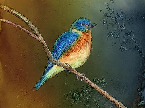 """Bluebird"" Original Painting"