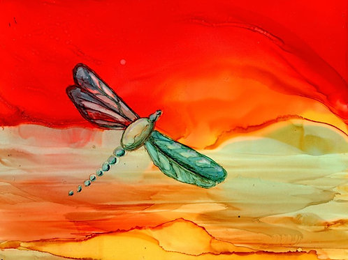 Red  Butterfly Print