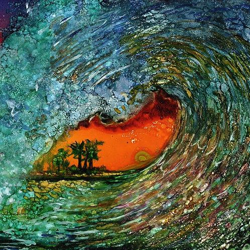 Orange Wave Trivet