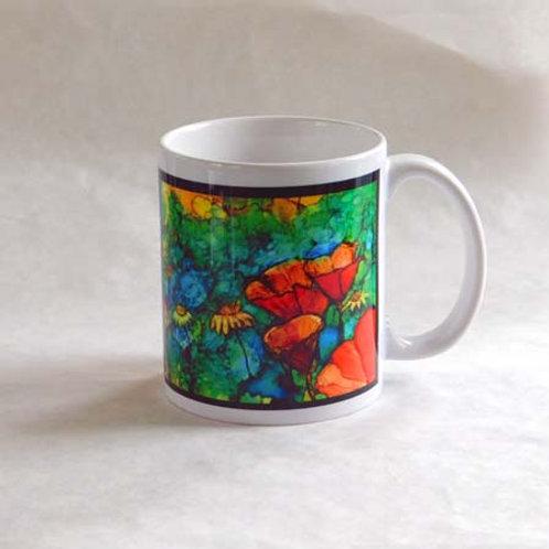 Orange Poppies Mug
