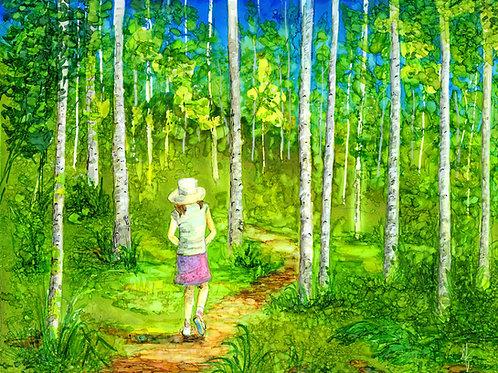 """Walk in the Woods""  Original Painting"