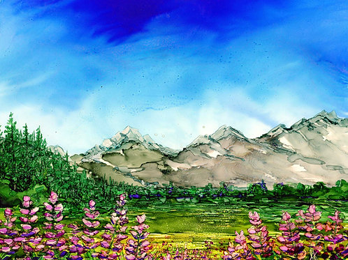 Rockies Mountains Original Painting
