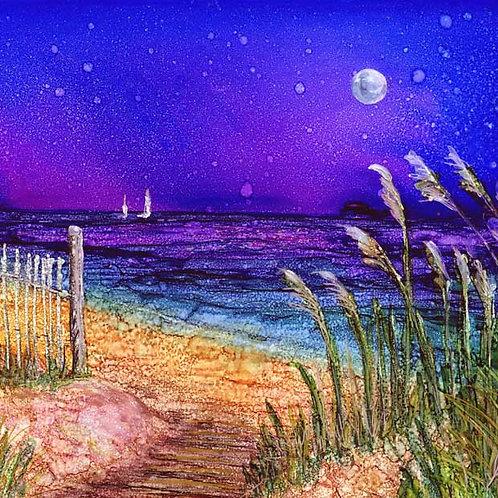 Beach Path w/moon Trivet