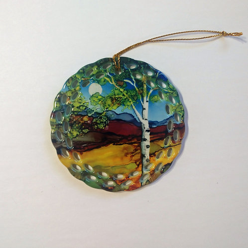 Brown Birch Ornament