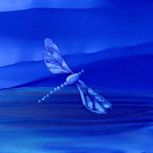 Blue Dragonfly Trivet