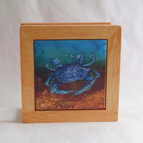 Blue Crab Napkin Holder
