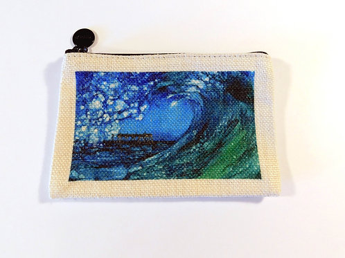 Blue Wave Coin Bag