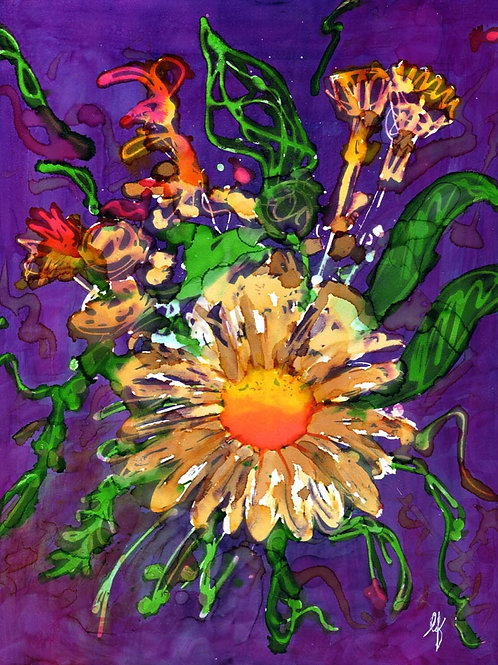 Abstract Flower- Original Painting