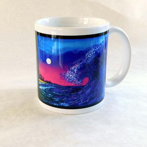 Pink Wave Mug