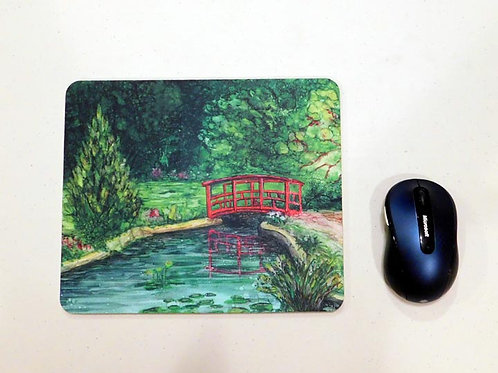 Red Bridge Mouse Pad