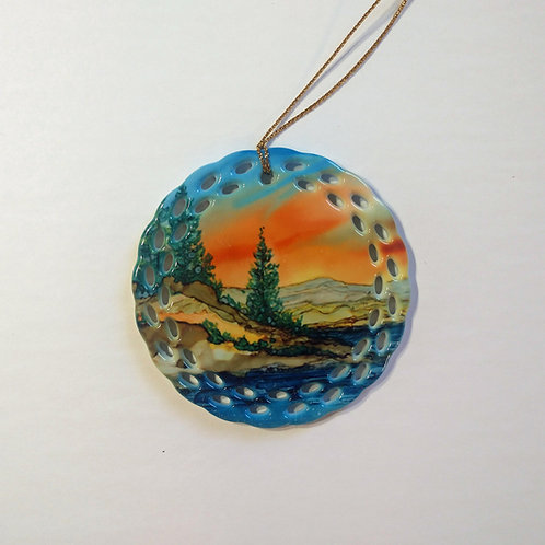 Mountain Lake Ornament