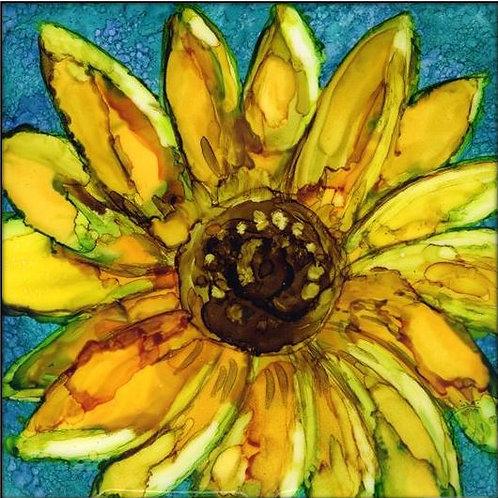 Sunflower-Teal Trivet