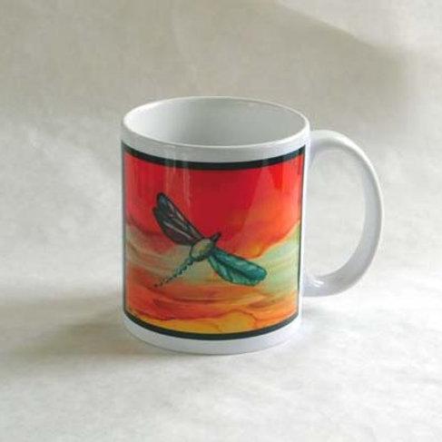 Red Dragonfly Mug