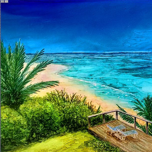 Caribbean Beach Trivet