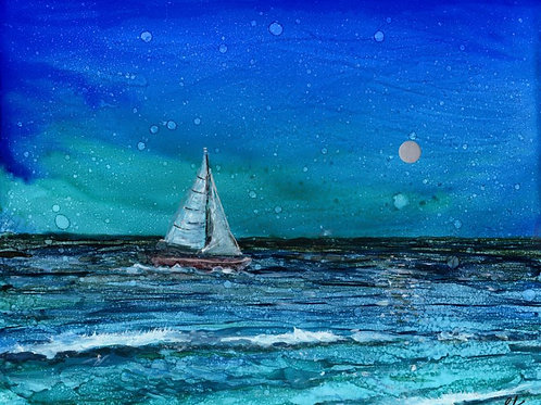 Moonlight Sail Print