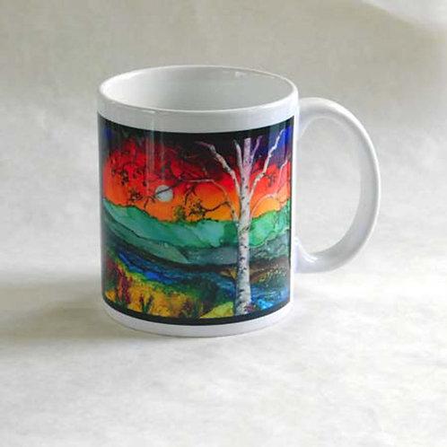 Rainbow Birch Mug