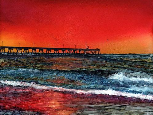 Johnny Mercer Pier Original Painting