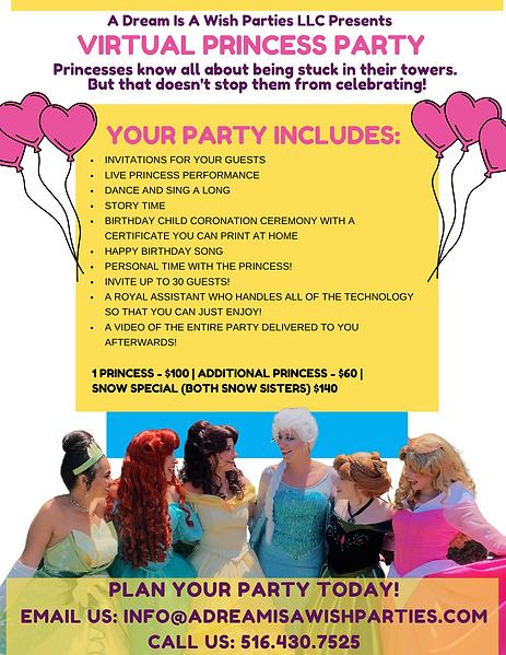 Virtual Princess Party Zoom