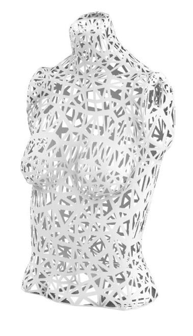 3D generated torso, open mesh