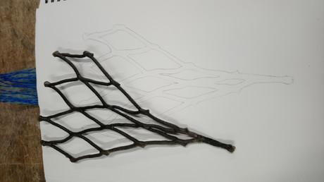 Wax dipped net