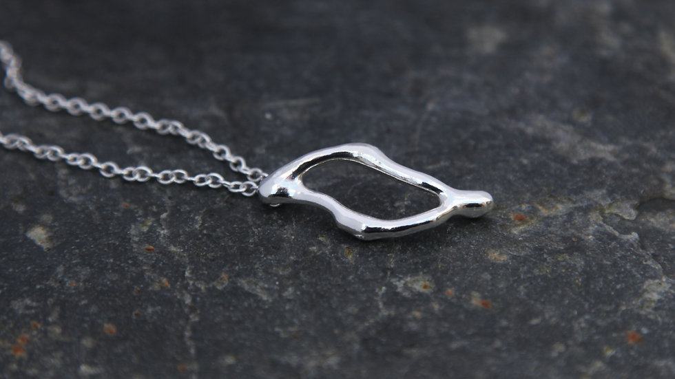 Sterling Silver Single Fragment Necklace