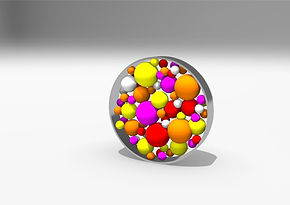 60mm brooch with balls perspective front