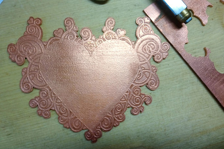 In progress, the etched back plate