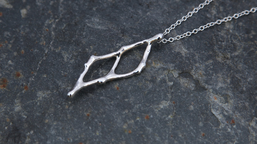 Sterling Silver Double Fragment Necklace