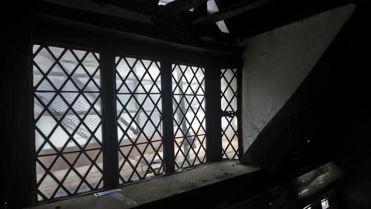 Window in the Elizabethan House on The Barbican, Plymouth