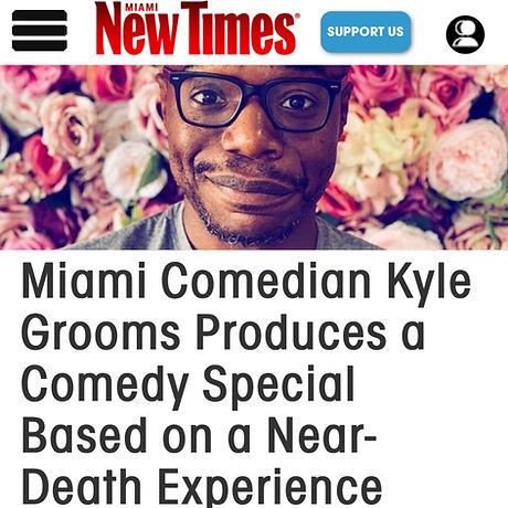 Miami News times Kyle Grooms Brain humor