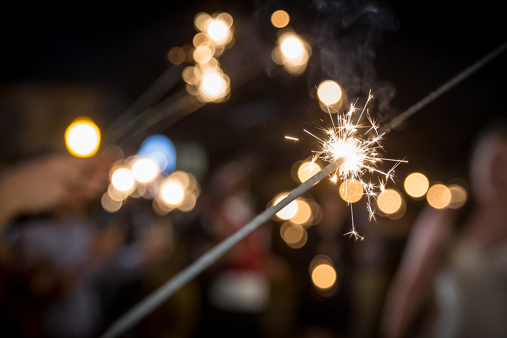 close up photo of sparkler for high school senior summer independence day list of activities