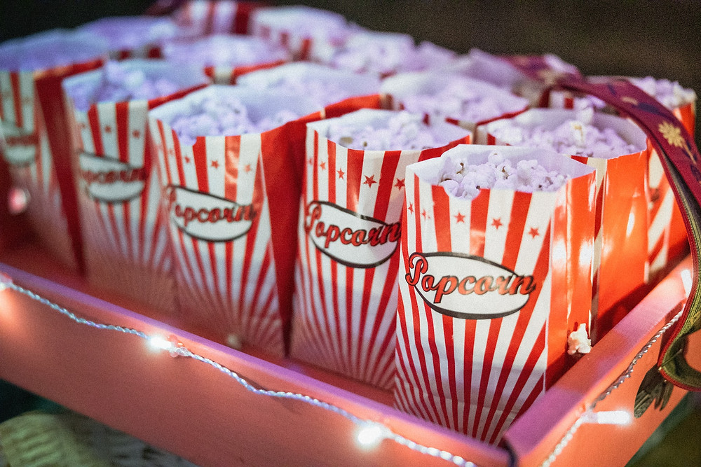 close up of popcorn for outdoor movie night summer activity in Central Ohio