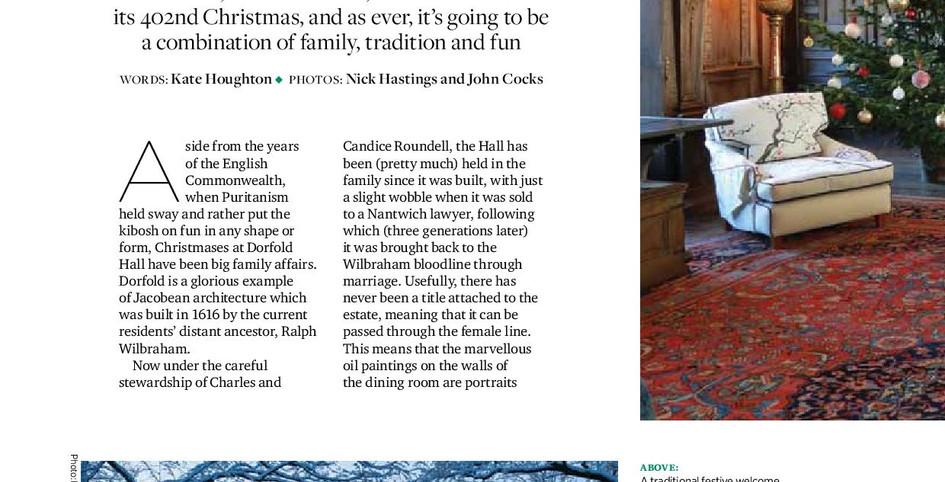 Stylist - Dorfold Hall feature in Cheshire Life Magazine