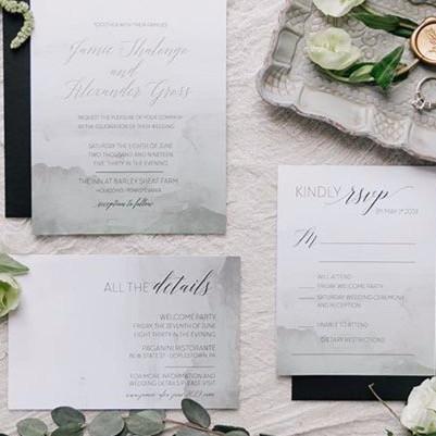 Punta Allen semi custom wedding invitati