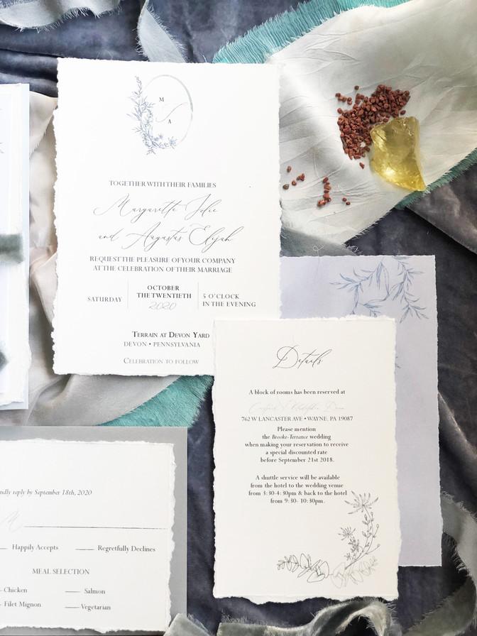 SIAN KA'AN (main invitation and enclosure card)