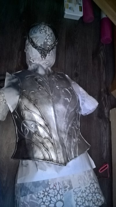 Weathering the cuirass.